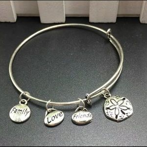 Friends and Family adjustable silver bracelet NIP